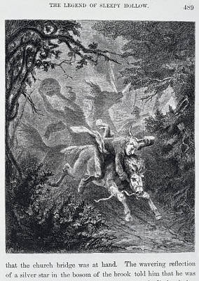 The Legend Of Sleepy Hollow Print by British Library