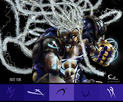 Fuzzy Digital Art - The Legend by R L Dunbar