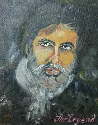 Amitabh Painting - The Legend by Rafath Khan