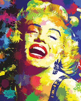 Norma Jean Painting - Marilyn Monroe by Anthony Mwangi