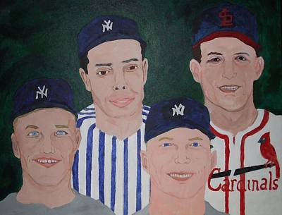 Joe Dimaggio Painting - The Legends Of The Game by Pharris Art