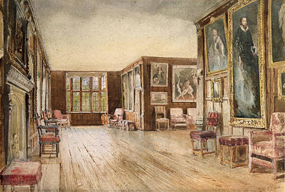 Shiny Floors Painting - The Leicester Gallery, Knole House by David Hall McKewan