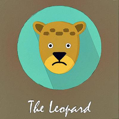 Painting - The Leopard Cute Portrait by Florian Rodarte