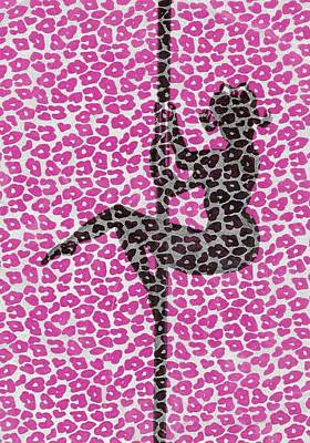 Drawing - The Leopard Stripper by Nicole Burrell
