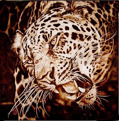 The Leopard's Hello Art Print by Cynthia Adams