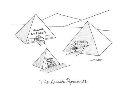 The Lesser Pyramids Art Print
