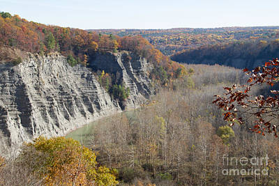 Photograph - The Letchworth Valley by William Norton