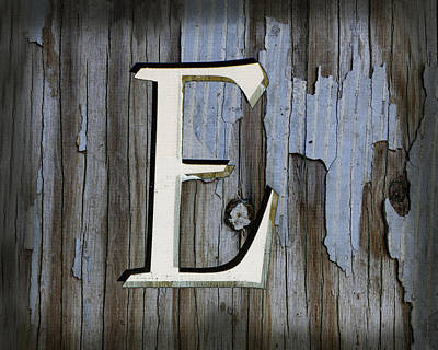 Photograph - The Letter E  by Ann Powell