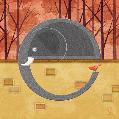 The Letter E For Elephant Art Print