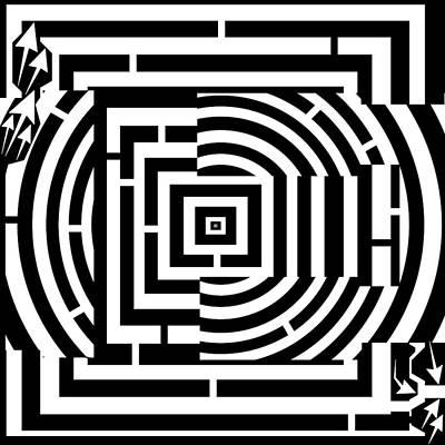 Alphabet Mazes Digital Art - The Letter E by Yonatan Frimer Maze Artist