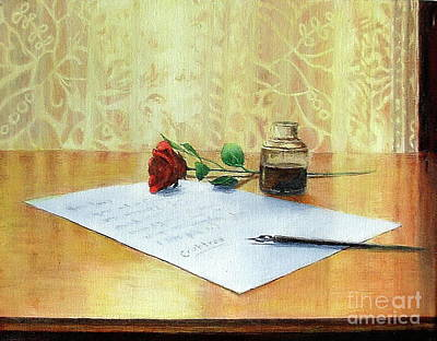 Painting - The Letter by Elizabeth Crabtree