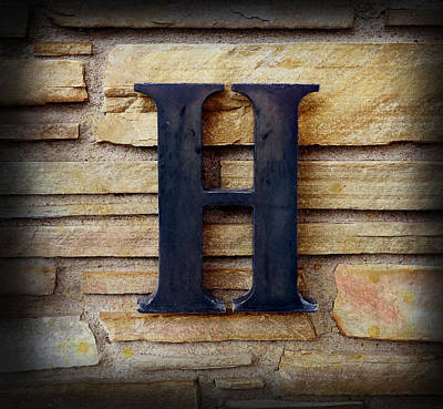 Photograph - The Letter H by Ann Powell