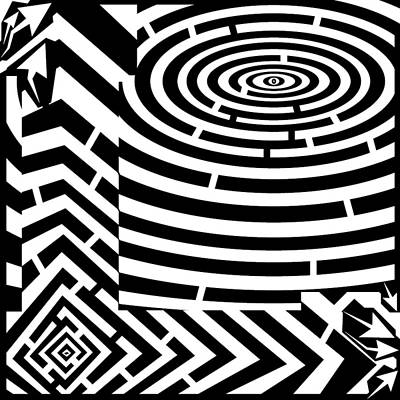 Trippy Maze Art Digital Art - The Letter L by Y Frimer