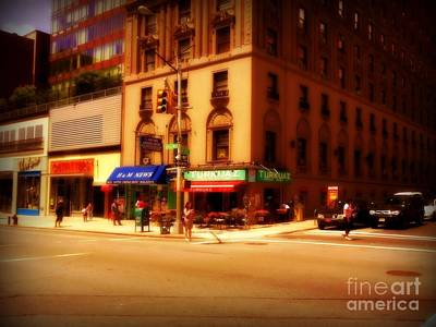Photograph - The Letter - New York City Street Scene by Miriam Danar