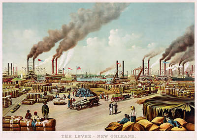 1880s Drawing - The Levee Of New Orleans by Mountain Dreams