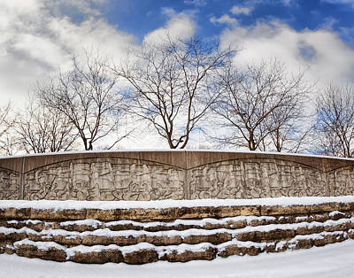 Photograph - The Levee Wall by Al  Mueller