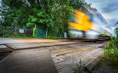 Photograph - The Level Crossing. by Gary Gillette