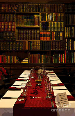 Table Wine Photograph - The Library At Joe's by Al Bourassa