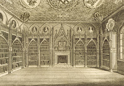 The Library, Engraved By Godfrey Art Print by English School
