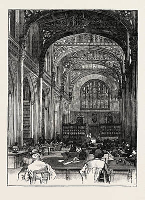 Archives Drawing - The Library Guildhall London by English School