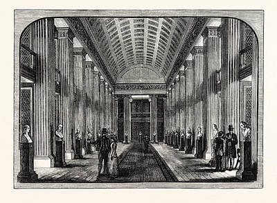 Archives Drawing - The Library Hall Edinburgh University by English School