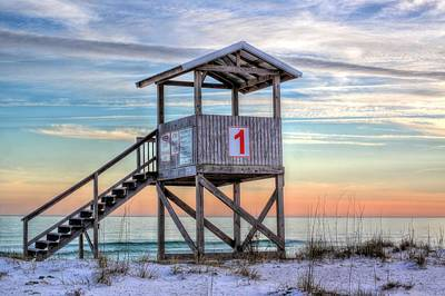 The Lifeguard Stand Art Print by JC Findley