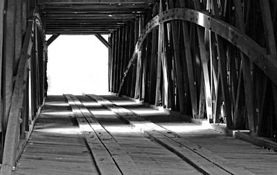 Photograph - The Light At The End Of The Bridge by Holly Blunkall