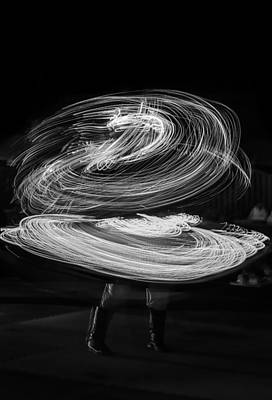 Lightshow Photograph - The Light Dancer by Ahmed Rashed
