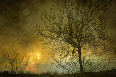 The Light Escapes Through The Clouds Art Print by Guido Montanes Castillo