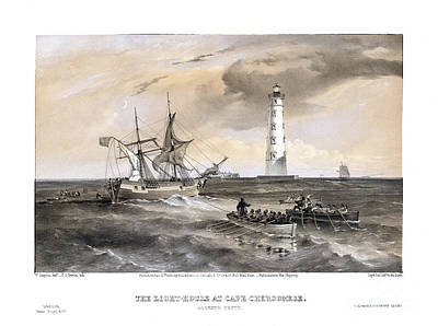 Historic Lighthouses Painting - The Light-house At Cape Chersonese - Looking South  - 1855 by Pablo Romero