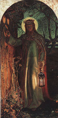 Pre-raphaelite Painting - The Light Of The World by Philip Ralley