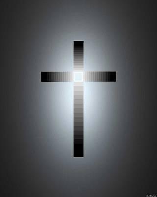 Faith Hope And Love Mixed Media - Jesus, Cross 115 by Daniel Madrid