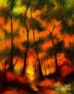 Art Print featuring the painting The Lighted Path by Alison Caltrider