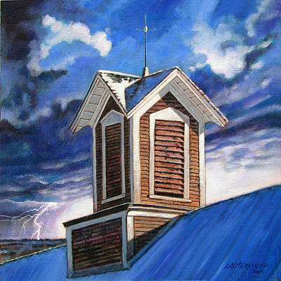 Painting - The Lightening Rod by John Lautermilch