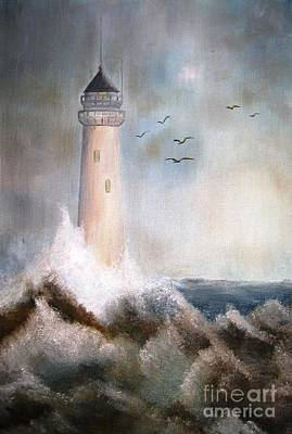 Painting - The Lighthouse by AmaS Art