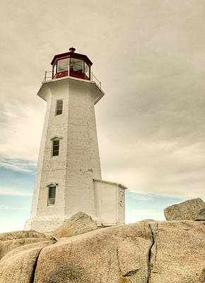 Photograph - The Lighthouse At Peggys Cove by Rob Huntley