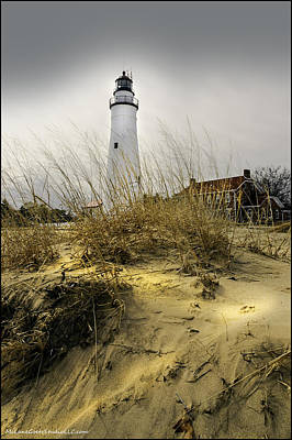 Blue Water Bridge Photograph - The Lighthouse Beach At Fort Gratiot Michigan by LeeAnn McLaneGoetz McLaneGoetzStudioLLCcom