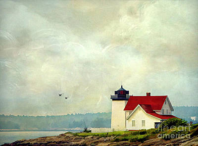 Maine Shore Photograph - The Lighthouse by Darren Fisher