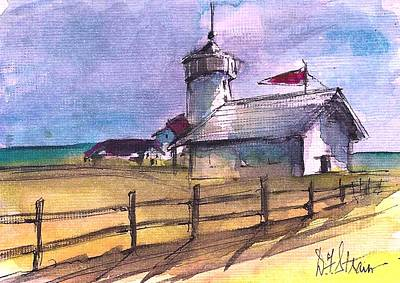 Boston Ma Painting - The Lighthouse by Diane Strain