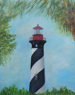 Painting - The Lighthouse In St. Augustine Florida by Patty Weeks