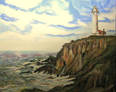 Pastel - The Lighthouse. by Mike Benton