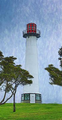 Mixed Media - The Lighthouse Of Long Beach by Deborah Boyd