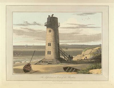 The Lighthouse On Point Of Air Art Print by British Library