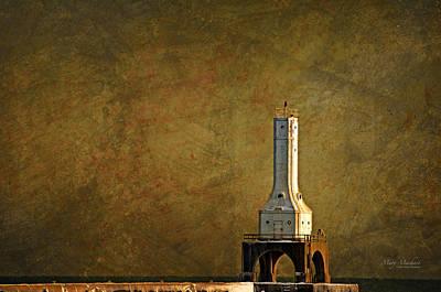 Lighthouse Digital Art - The Lighthouse - Port Washington by Mary Machare