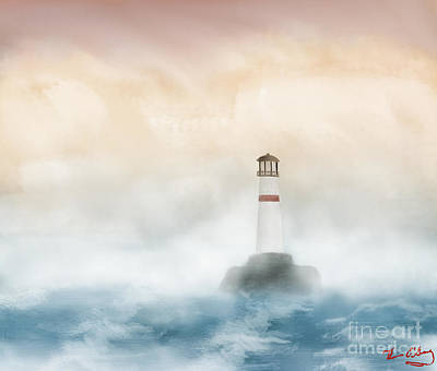 Digital Art - The Lighthouse by Thomas OGrady