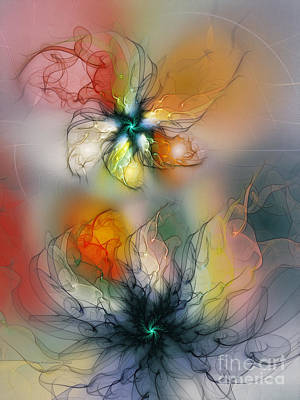 Poetic Digital Art - The Lightness Of Being-abstract Art by Karin Kuhlmann