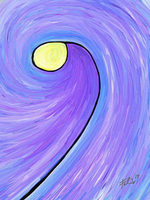 Lightpost Painting - The Lightpost by Will Felix