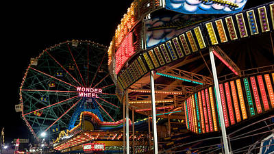 Photograph - The Lights Of Coney Island by Cornelis Verwaal
