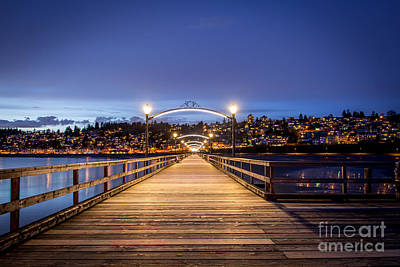 The Lights Of White Rock Beach - By Sabine Edrissi Art Print by Sabine Edrissi