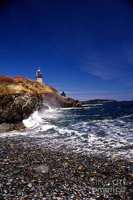 The Ligthouse At West Quoddy Art Print by Skip Willits